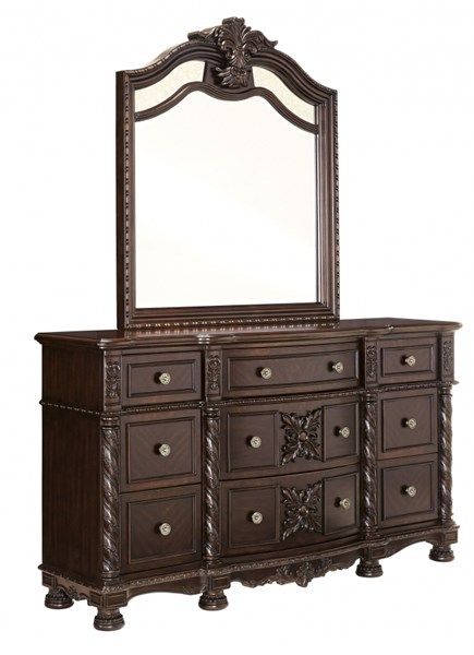Laddenfield Traditional Classics Dark Brown Wood Dresser B717-31